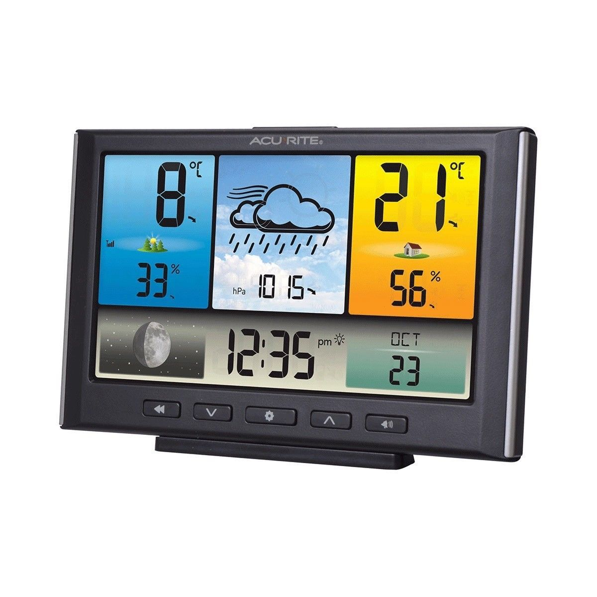Weather Station with Colour LCD Display and Wireless Outdoor Sensor